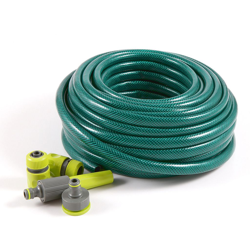 watering set with 3 layer garden hose eco 3 4 30m. Black Bedroom Furniture Sets. Home Design Ideas