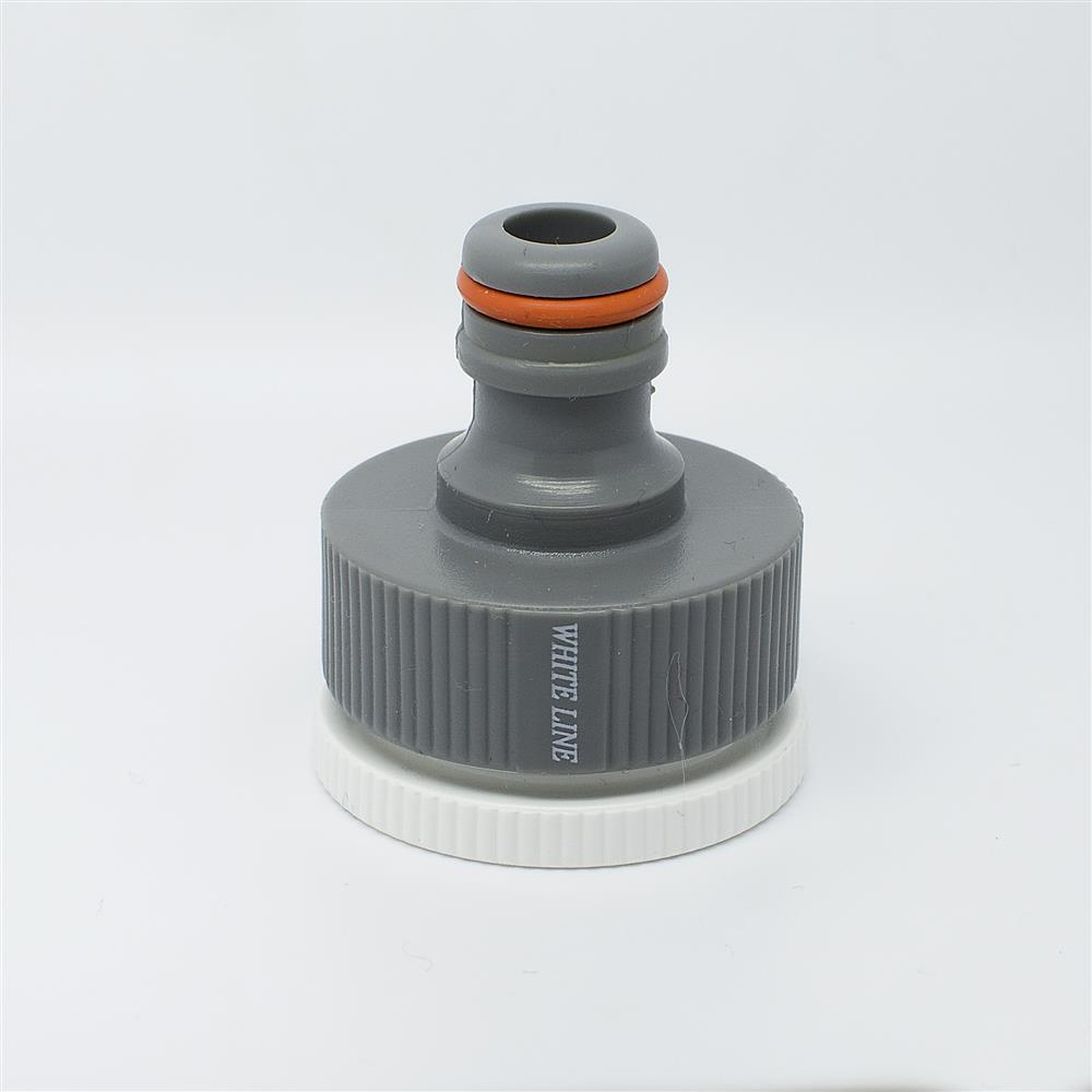 "Quantum Garden - White Line - 1"" with reduction to 3/4"" Tap Connector - Female Thread"