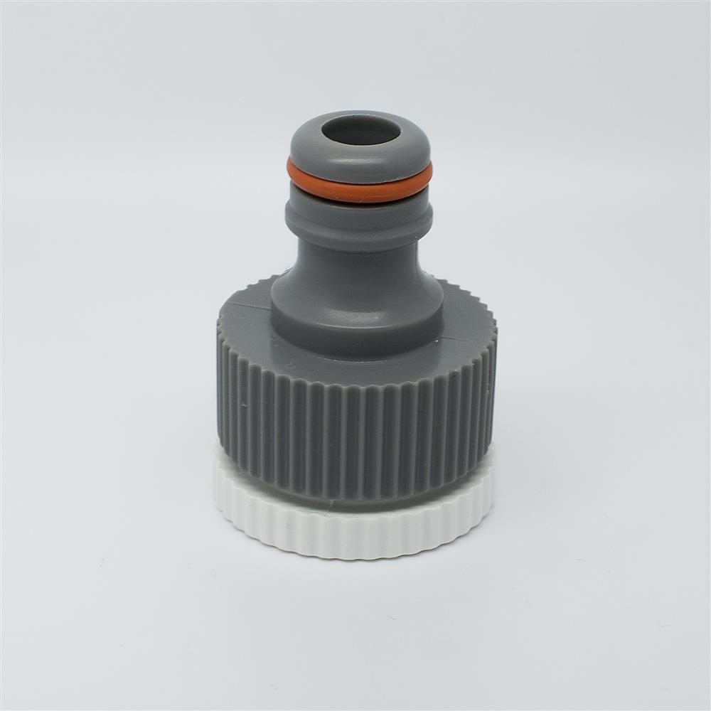 "Quantum Garden - White Line - 3/4"" with reduction to 1/2"" Tap Connector - Female Thread"